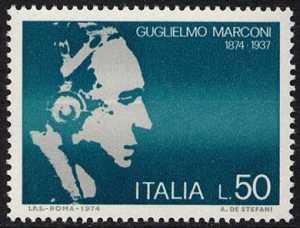 Centenario della nascita di Guglielmo Marconi - ritratto