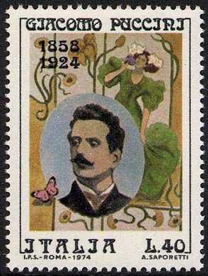 Cinquantenario della morte di Giacomo Puccini - ritratto