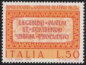 Bimillenario della morte di Marco Terenzio Varrone - testo dalle 'Satire Menippee'
