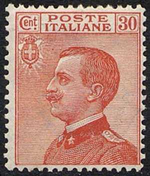 1922 - Effige di Vittorio Emanuele III - volta a sinistra - tipo del 1908