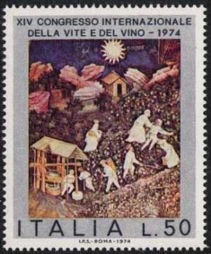 XIV Congresso internazionale della vite e del vino - pittura murale del XV sec.