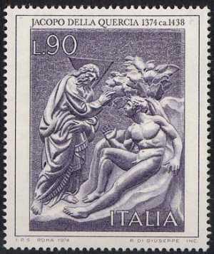 Arte Italiana - 1ª serie - Jacopo della Quercia - 'Creazione di Adamo'
