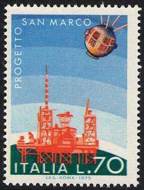 Imprese spaziali italiane - Satellite S. Marco III - L. 70