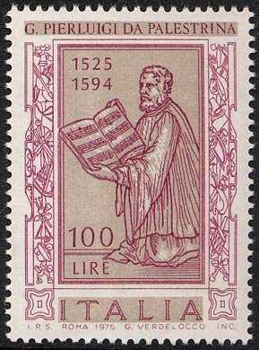 450° Anniversario della nascita di Giovanni Pierluigi da Palestrina - frontespizio del '1° Libro delle Messe'