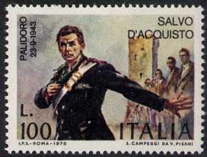 A ricordo del sacrificio del carabiniere Salvo D'Acquisto - L. 100