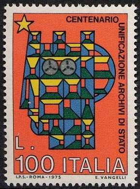 Centenario della Unificazione degli Archivi di Stato - L. 100