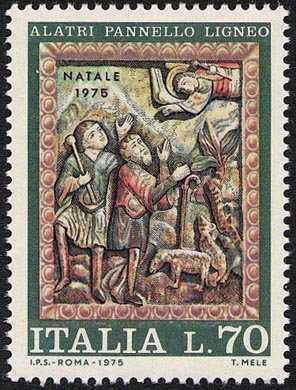Natale - Pannelli lignei del Duomo di Alatri - 'Annuncio ai pastori'