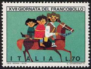 XVII Giornata del Francobollo - Disegni di bambini : Chiocchetti di Moena