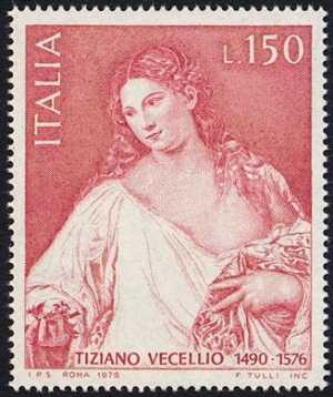 4° Centenario della morte di Tiziano Vecellio - 'Flora' - Uffizi di Firenze