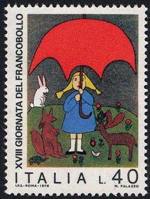 """XVIII Giornata del Francobollo - """" Salviamo la natura """" - Disegni di bambini - L. 40"""