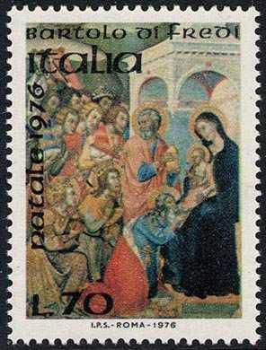 Natale - ' Adorazione dei Magi' - Bartoli Fredi - Pinacoteca di Siena