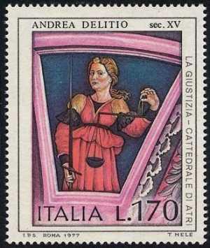 Arte Italiana  - Andrea Delitio - 'La Giustizia' , Duomo di Atri