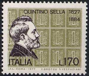 150° Anniversario dlla nascita di Quintino Sella - ritratto dello statista