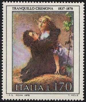 Arte Italiana - 'L'edera' di Tranquillo Cremona
