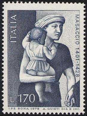 """550° Anniversario della morte di Tommaso Guidi detto """" Masaccio """" - affresco Chiesa del Carmine a Firenze"""