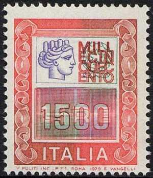 """"""" Alti Valori """" - Italia Turrita e cifra - L. 1500"""