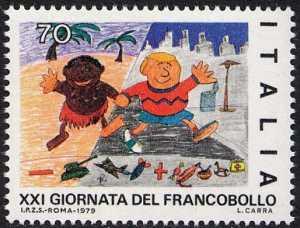 XXI Giornata del Francobollo - disegni di bambini - L. 70