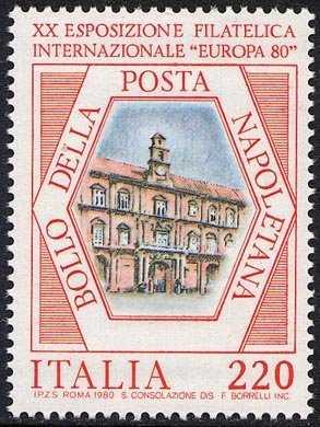 """XX Esposizione filatelica """" Europa '80 """" a Napoli - Palazzo Reale"""