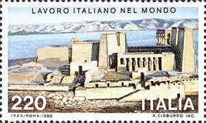 Lavoro Italiano nel mondo - 1ª serie - recupero dei templi di Philae - il tempio