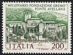 Millenario della fondazione dell'Eremo di Fonte Avellana - veduta dell'Eremo