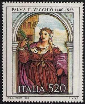 Arte Italiana -  Palma il Vecchio - 'Santa Barbara'