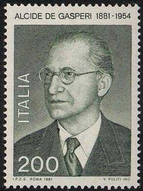 Centenario della nascita di Alcide De Gasperi - ritratto dello statista