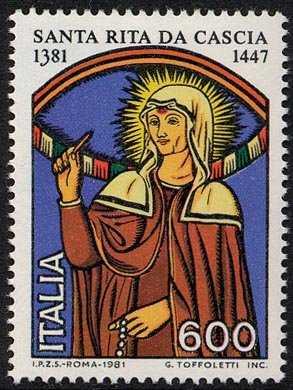 6° Centenario della nascita di Santa Rita da Cascia - L. 600