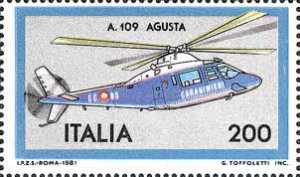 Costruzioni aeronautiche italiane - elicottero ' A 109 Agusta '