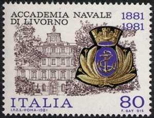 Centenario della fondazione della Accademia Navale di Livorno - sede dell'Accademia