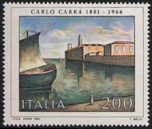 Arte italiana - 8ª serie - Carlo Carra - ' Fondamenta nuove '