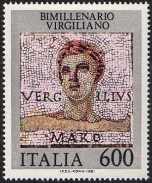 Bimillenario della morte di Publio Virgilio Marone - mosaico di Treviri