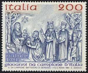 Natale - Bassorielo di Giovanni da Campione d'Italia - 1340 - 'L'adrazione dei Magi'
