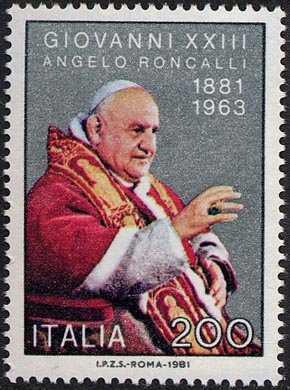 Centenario della nascita di Papa Giovanni XXIII - L. 200