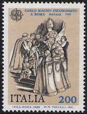 Europa - 27ª  serie - Avvenimenti storici - Incoronazione di Carlo Magno