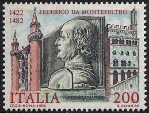 5° Centenario della morte di Federico da Montefeltro - bassorilievo