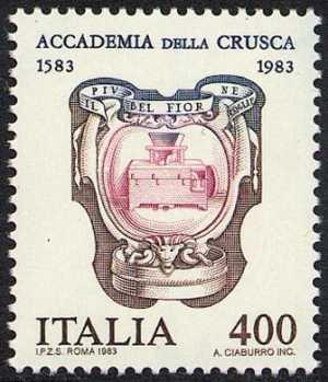 4° Centenario della fondazione della Accademia della Crusca - emblema