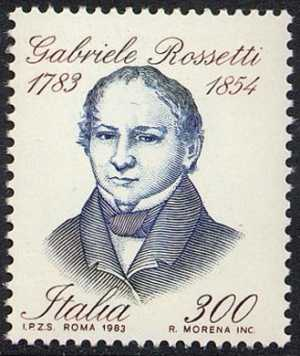 Bicentenario della nascita di Gabriele Rossetti - L. 300