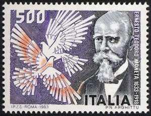 150° Anniversario della nascita di Ernesto Teodoro Moneta - ritratto
