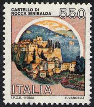 Castelli d'Italia - Serie ordinaria - L. 550