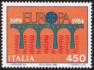 Europa - 29ª serie - 25° Anniversario della CEPT. - L. 450