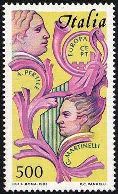 Europa - 30ª serie - Anno europeo della musica - tenori A. Pertile e G. Martinelli