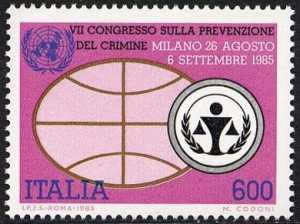 7° Congresso mondiale dell'ONU sulla prevenzione del crimine - emblema ONU