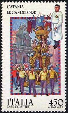 Folclore - «Le Candelore» , Catania - Processione