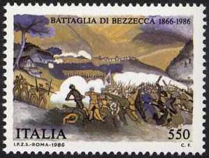 120° Anniversario della battaglia di Bezzecca - stampa antica
