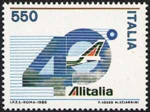 40° Anniversario dell'Alitalia - L. 450