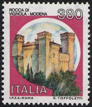Castelli d'Italia - Serie ordinaria - L. 380
