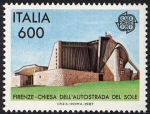 Europa - 32ª serie - Arte ed architettura moderna - Chiesa dell'Autostrada a Firenze