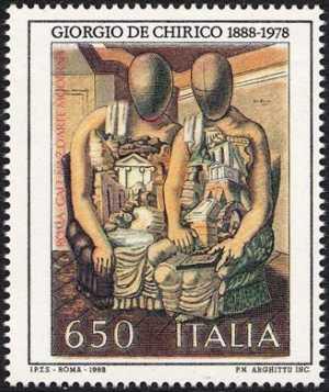 Patrimonio artistico e culturale italiano - Centenario della nascita di Giorgio De Chirico - «gli archeologi»