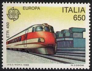 Europa - 33ª serie - Mezzi di trasporto e comunicazione - Elettrotreno «Etr 450»