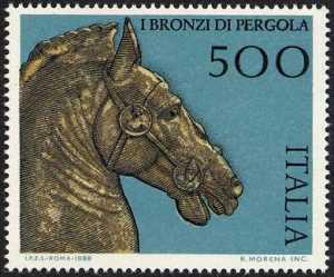 Patrimonio artistico e culturale italiano - I bronzi di Pergola - testa di cavallo